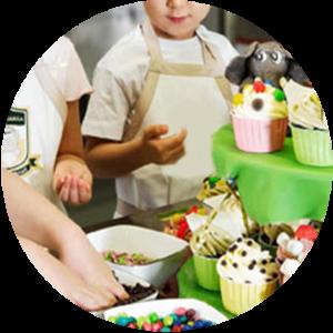Cumpleaños con talleres, cocina