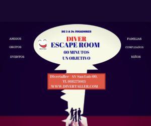 Cumpleaños con talleres, escape room