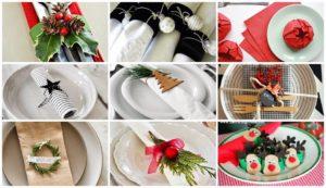 formas de doblar servilletas fiesta de navidad